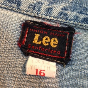 """50年代 """"Lee 131J"""" デニムジャケット"""
