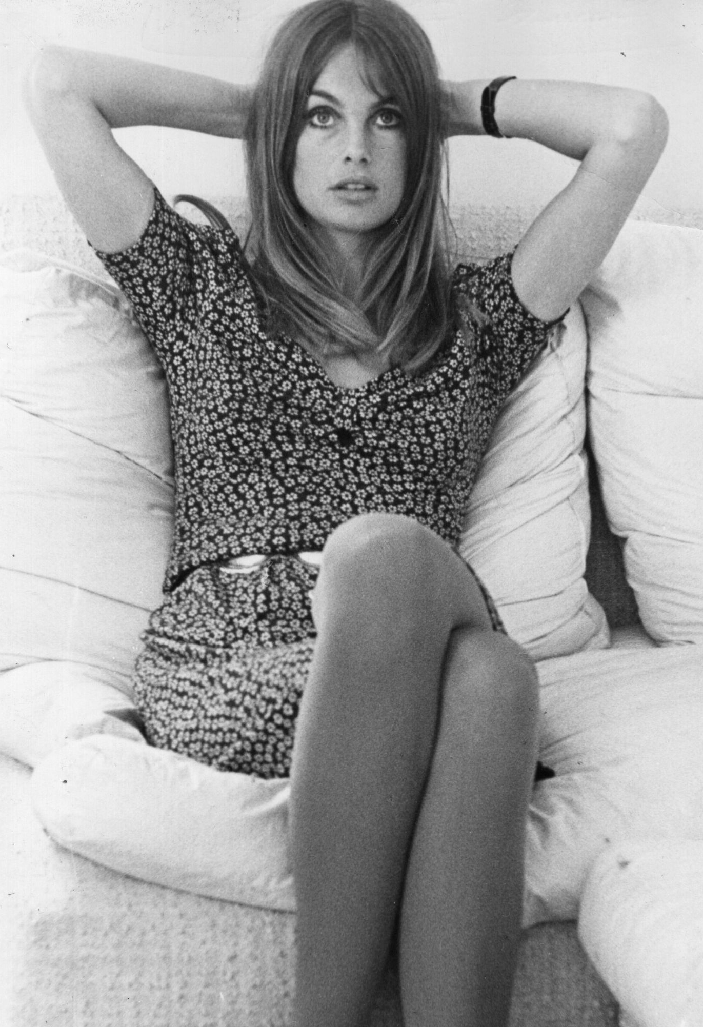 English fashion model Jean Shrimpton.   (Photo by Evening Standard/Getty Images)